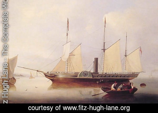 Fitz Hugh Lane - Unicorn in Salem Harbour
