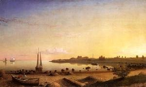 Fitz Hugh Lane - Stage Fort across Gloucester Harbor