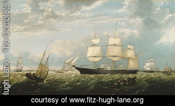 Fitz Hugh Lane - The Golden State Entering New York Harbor