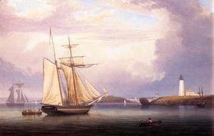 Fitz Hugh Lane - Drying Sails off Ten Pound Island