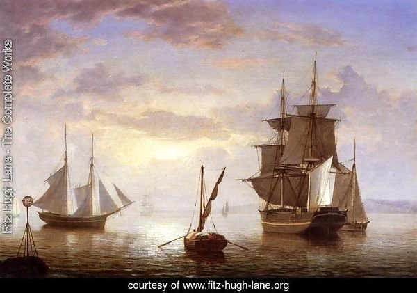 Ships in a Harbor, Sunrise