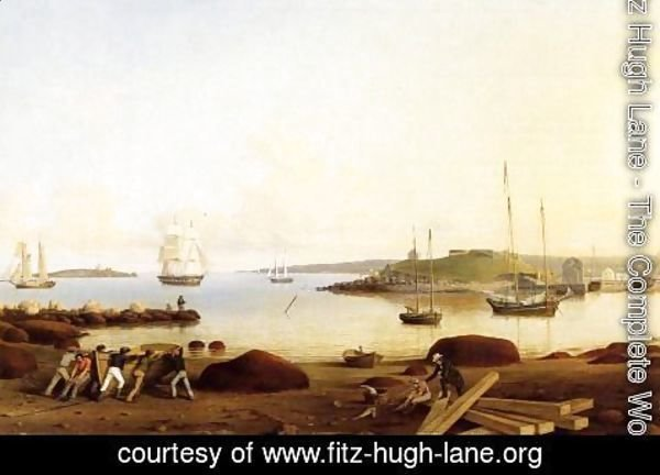 Fitz Hugh Lane - The Fort and Ten Pound Island, Gloucester, Massachusetts