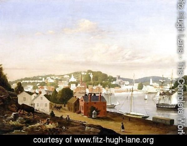 Fitz Hugh Lane - View of Norwich, Connecticut