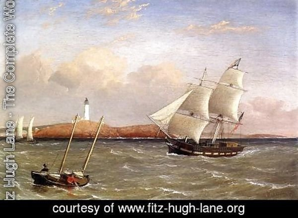 Fitz Hugh Lane - Rounding the Lighthouse