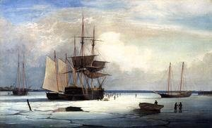 Fitz Hugh Lane - Ships in Ice off Ten Pound Island