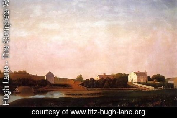 Fitz Hugh Lane - Babson and Ellery Houses, Gloucester