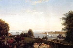 Fitz Hugh Lane - Gloucester from Brookbank