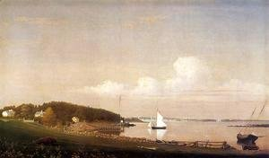 Fitz Hugh Lane - View of Gloucester from 'Brookbank,' the Sawyer Homestead