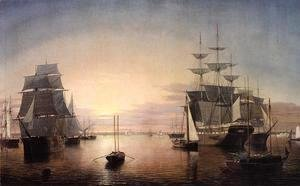 Fitz Hugh Lane - Boston Harbor at Sunset
