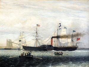Fitz Hugh Lane - The Britannia Entering Boston Harbor