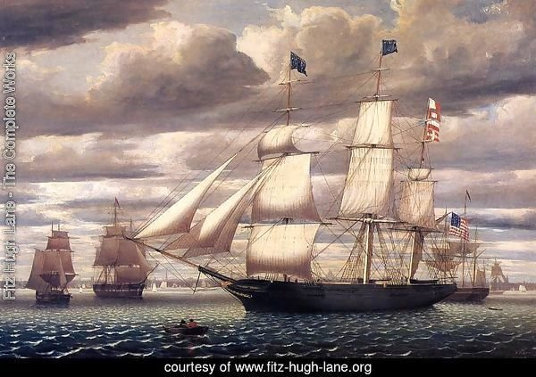 Clipper Ship 'Southern Cross' Leaving Boston Harbor