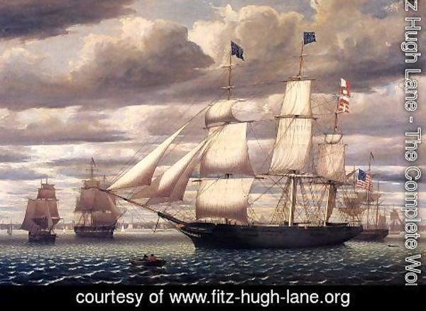 Fitz Hugh Lane - Clipper Ship 'Southern Cross' Leaving Boston Harbor