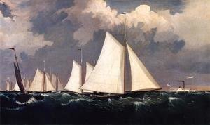 Fitz Hugh Lane - New York Yacht Club Regatta II