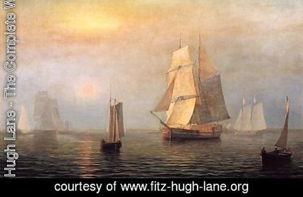 Fitz Hugh Lane - Shipping in Down East Waters