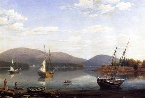 Fitz Hugh Lane - Bar Island and Mt. Desert Mountains from Sommes Settlement