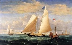 Fitz Hugh Lane - The Yacht 'America' Winning the International Race