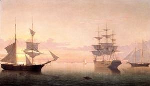 Fitz Hugh Lane - Ships at Sunrise