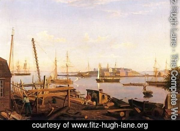 Fitz Hugh Lane - The Fort and Ten Pound Island, Gloucester
