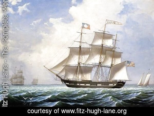Fitz Hugh Lane - The 'Matilda' under Sail
