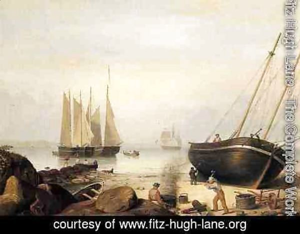 Fitz Hugh Lane - Beached for Repairs