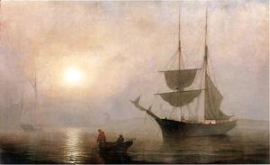 Fitz Hugh Lane - Ship in a Fog, Gloucester Harbor