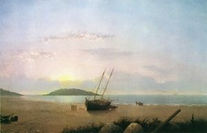 Fitz Hugh Lane - New England Coastal Scene - Cape Ann Beach
