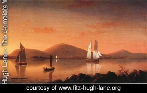 Fitz Hugh Lane - Camden from the Graves