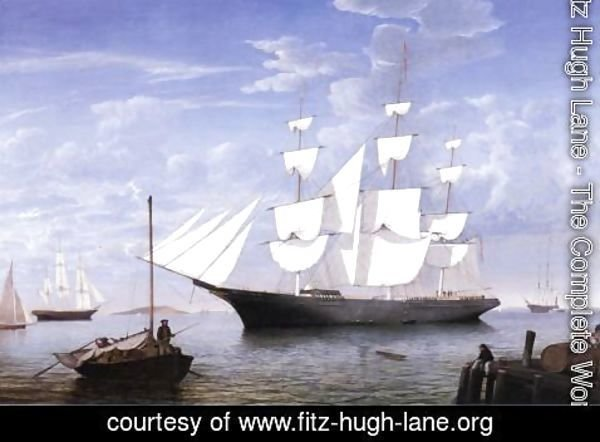 Fitz Hugh Lane - Star Light in Harbor