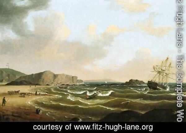 "Fitz Hugh Lane - The Wreck of the ""Roma"""
