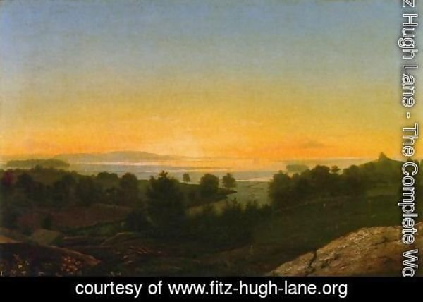 Fitz Hugh Lane - Annisquam Marshes, Near Gloucester, Massachusetts