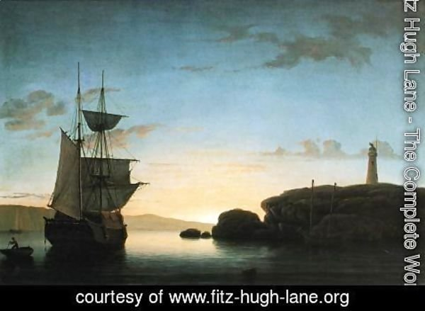 Fitz Hugh Lane - Light House at Camden, Maine