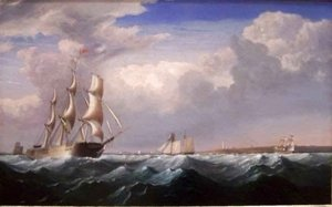 Fitz Hugh Lane - Sailing Ships off the New England Coast