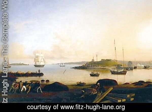 Fitz Hugh Lane - The Island and Fort of Ten Pound, Gloucester
