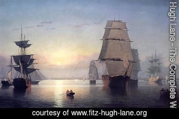 Fitz Hugh Lane - Boston Harbor at Sunset 1850 1855
