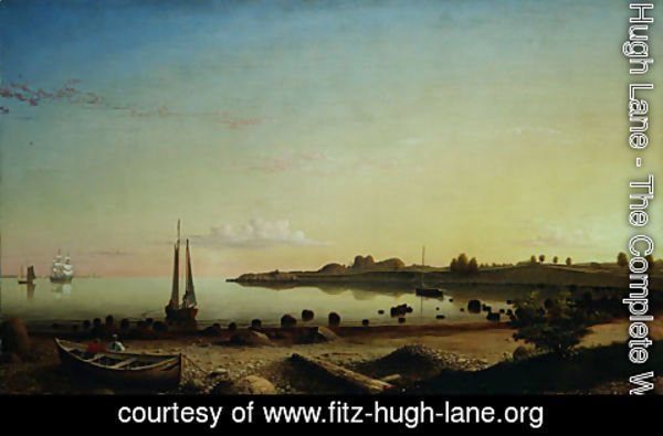 Fitz Hugh Lane - Stage Fort across Gloucester Harbor 1862