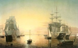 Fitz Hugh Lane - Boston Harbor  1850-55