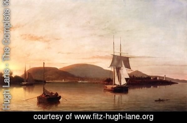 Fitz Hugh Lane - Camden Mountains from the South Entrance to the Harbor  1859