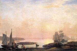Fitz Hugh Lane - Castine Harbor  1852