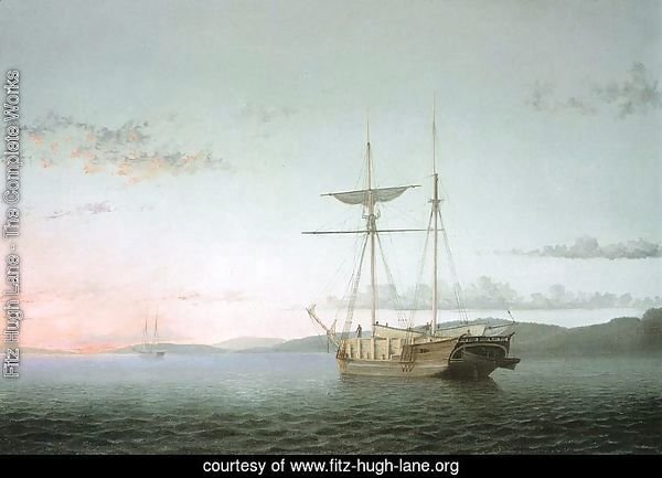 Lumber Schooners at Evening on Penobscot Bay  1860
